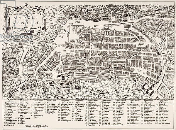 Map of Naples, c.1600