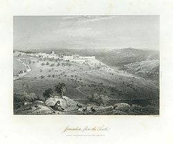 Постер Jerusalem, from the South