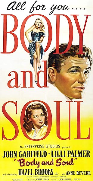 Film Noir Poster - Body And Soul