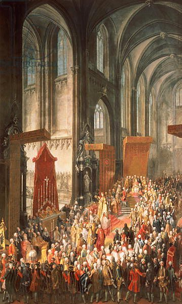 The Investiture Joseph II following his coronation as Emperor of Germany in Frankfurt, 1764