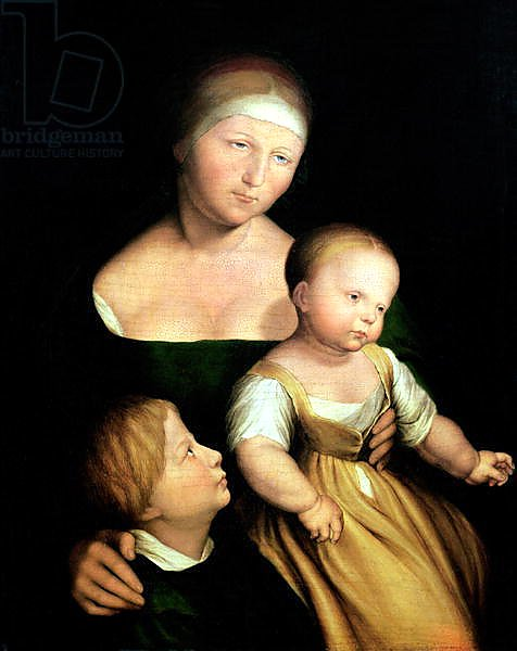 The Artist's Wife and Children, 1528
