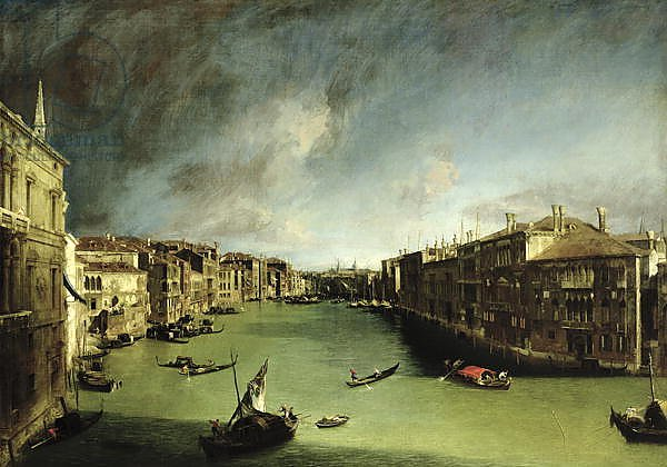 The Grand Canal, View of the Palazzo Balbi towards the Rialto Bridge, 1724