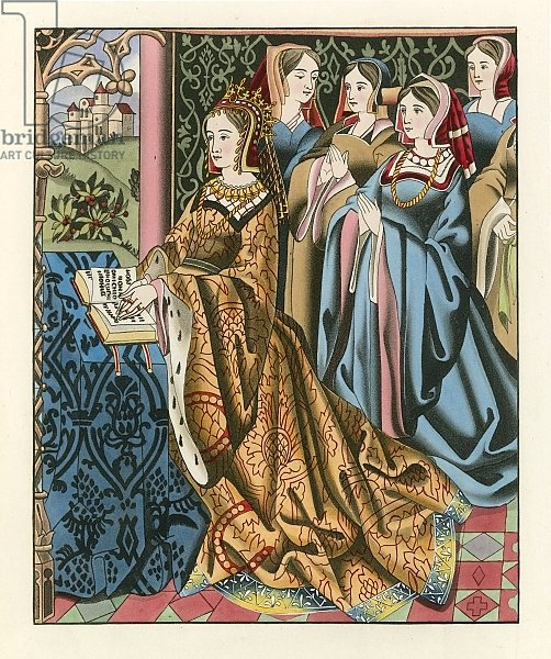 Margaret, Queen of Henry VI and her Court, mid 15th Century