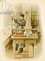 Постер Школа: Северная Америка (19 в) Thomas Edison in his laboratory