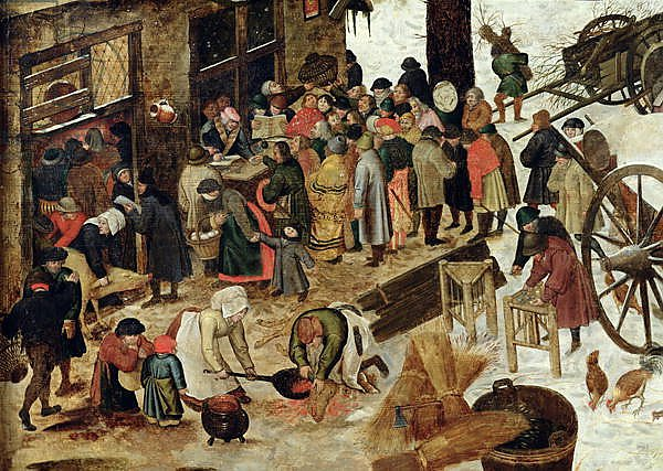 The Payment of the Tithe, or The Census at Bethlehem, detail, after 1566