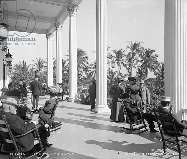 Veranda of the Hotel Royal Palm, Miami, Florida, c.1905