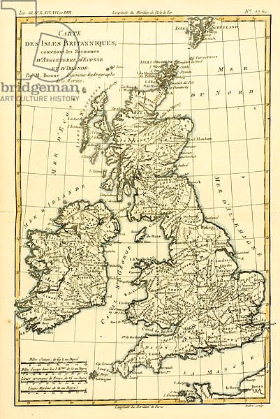 The British Isles, Including the Kingdoms of England, Scotland and Ireland, 1780