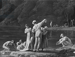 Постер Верне Клод Morning, The Bathers, central detail, 1772