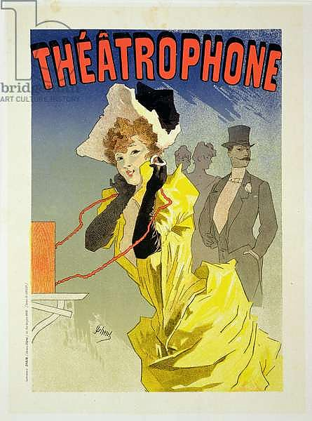Reproduction of a poster advertising 'Theatrophone', 1890