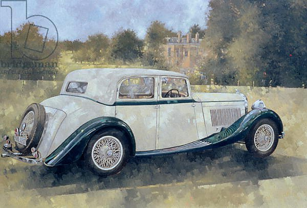 The Green and White Bentley at Althorp