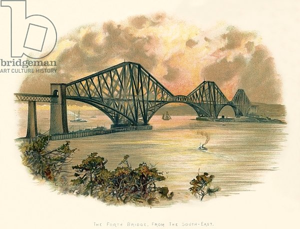 The Forth bridge, from the south-east
