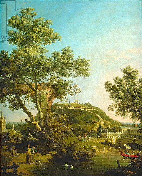 English Landscape Capriccio with a Palace, 1754