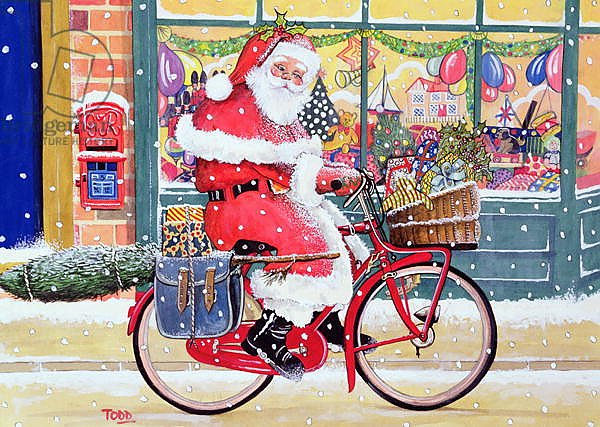 Father Christmas on a Bicycle