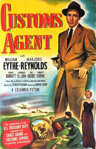 Film Noir Poster - Customs Agent