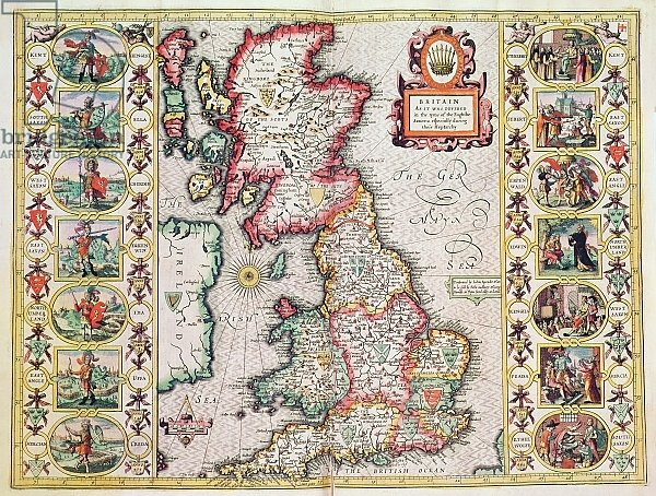 Britain As It Was Devided In The Tyme of the Englishe Saxons especially during their Heptarchy