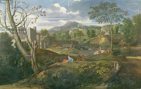 Landscape with buildings, 1648-51