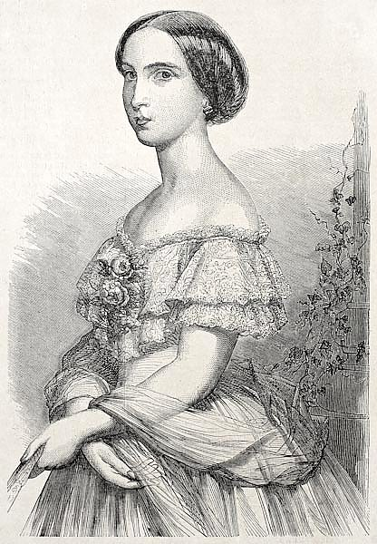 Princess Charlotte of Belgium. Created ny Schubert, published un L'Illustration Journal Universel, P