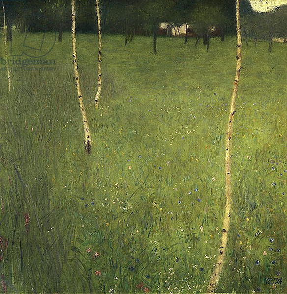 Farmhouse with Birch Trees, 1900