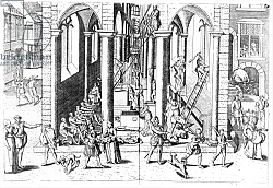 Постер Школа: Фламандская 16в. Calvinists destroying statues in the Catholic Churches, 1566