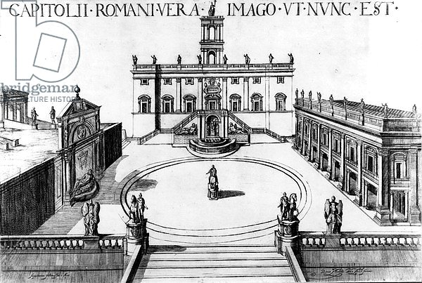 View of the Capitoline in Rome, 1600