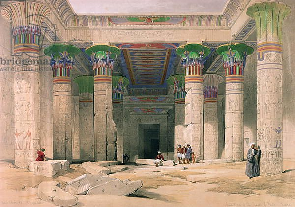 Grand Portico of the Temple of Philae, Nubia, from 'Egypt and Nubia'