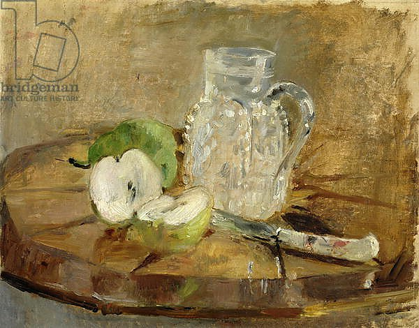 Still Life with a Cut Apple and a Pitcher, 1876