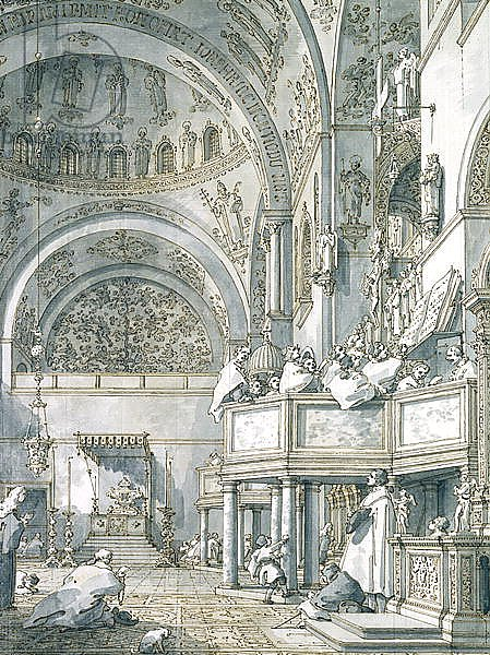 The Choir Singing in St. Mark's Basilica, Venice, 1766