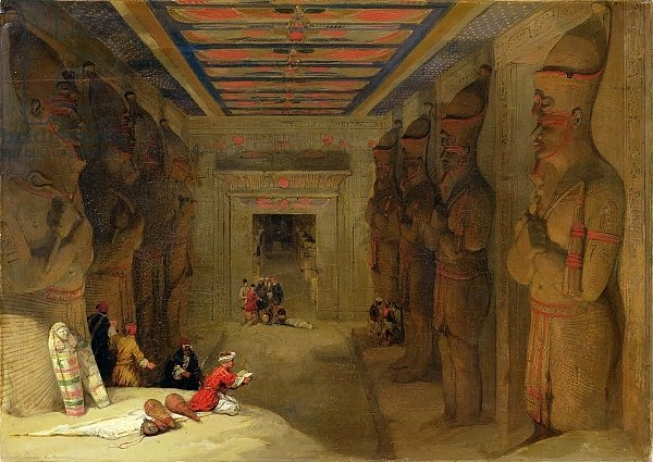 The Hypostyle Hall of the Great Temple at Abu Simbel, Egypt, 1849