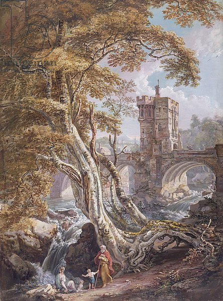 PD.8-1976 View of the Old Welsh Bridge, Shrewsbury, c.1770