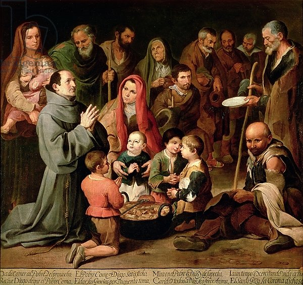 St. Diego of Alcala Giving Food to the Poor, 1645-46