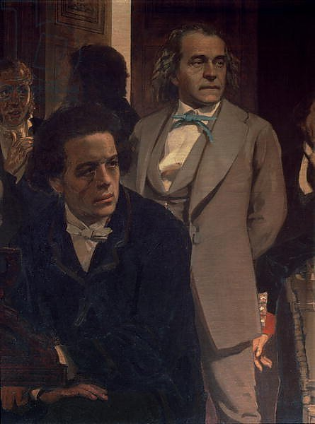 Anton Grigoryevich Rubinstein and Alexander Nikolayevich Serov, from Slavonic Composers, 1890s