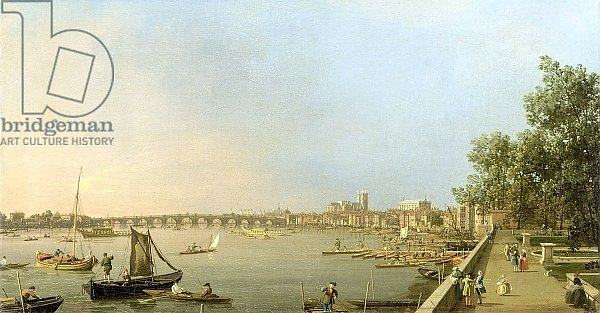 The Thames from the Terrace of Somerset House, c.1750