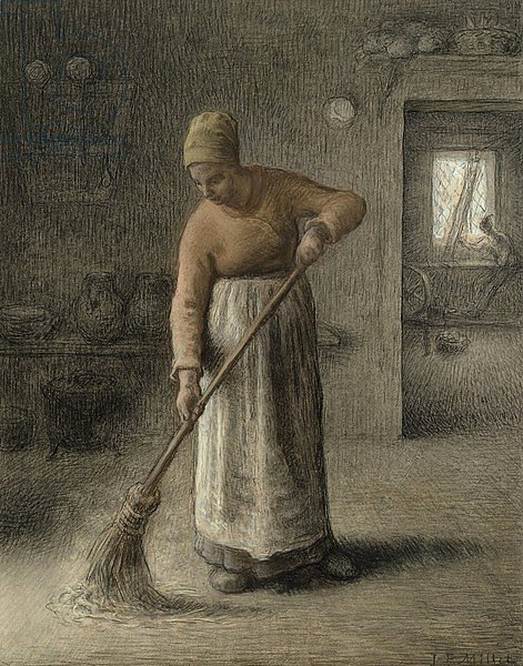 A Farmer's wife sweeping, 1867