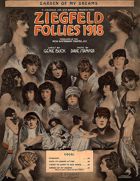 Ziegfeld Sheet Music - Ziegfeld Follies Of 1918 (Garden Of My Dreams)