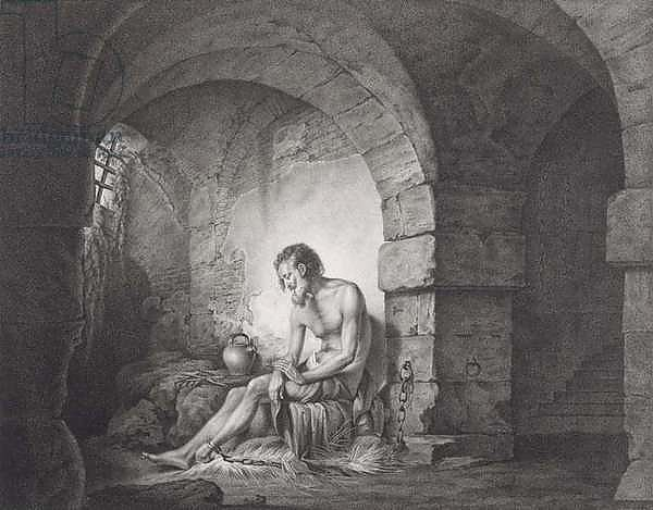 The Captive, engraved by Thomas Ryder 1786