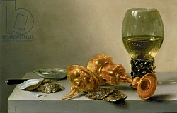 Постер Клас Питер A Still Life with a Roemer and a Gilt Cup