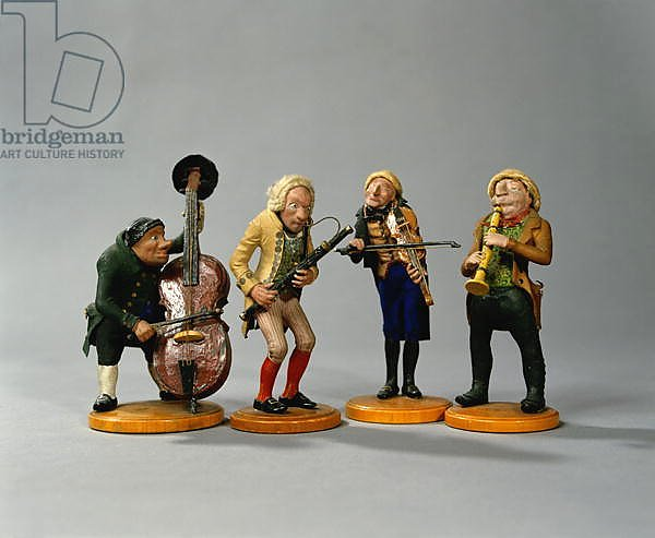 Caricature figurines of musicians, made in Nuremberg, 1836
