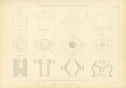Постер Elementary Examples of Mechanical Drawing