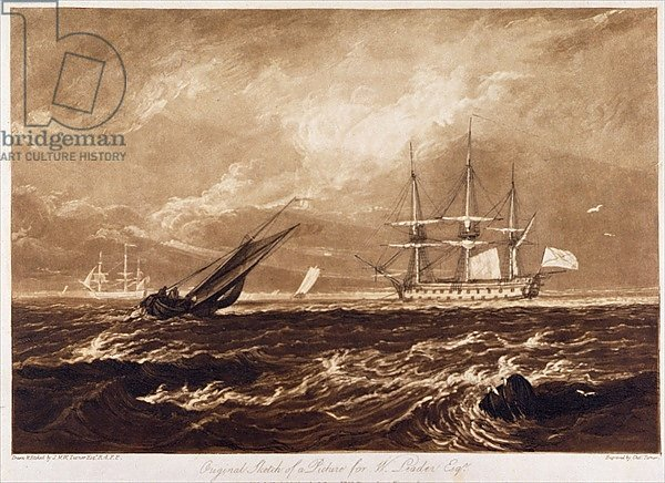 The Leader Sea Piece, engraved by Charles Turner 1859-61