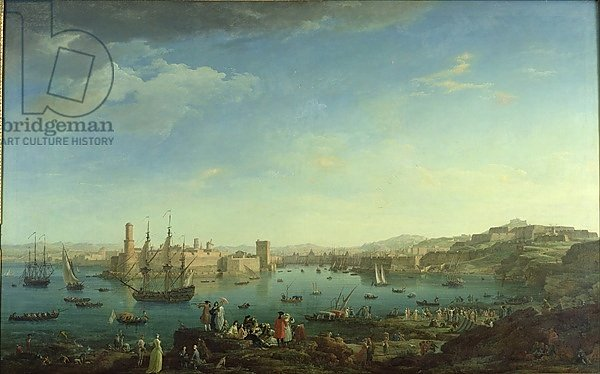 The Entrance to the Port of Marseilles, 1754