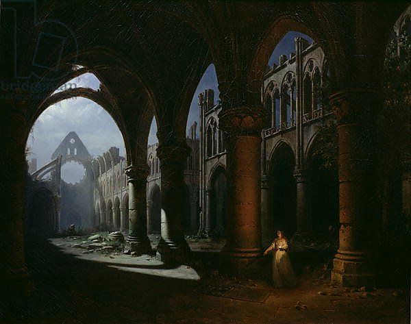Interior of an Abbey in Ruins, 1848