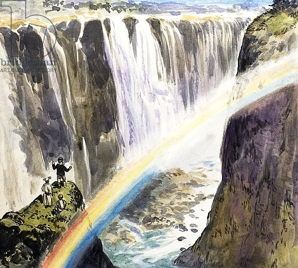 Dr Livingstone seeing the Victoria Falls