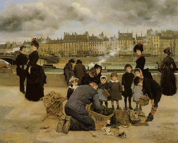 Children With a Toy Seller on the quai du Louvre