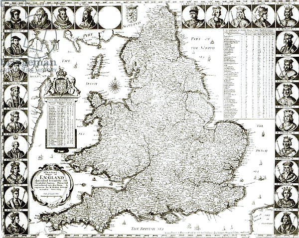 Map of England and Wales, 1644