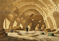 Постер Наттс Джон Клод The Wheat Store, Rue de Viarmes, engraved by I. Hill