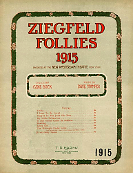 Постер Ziegfeld Sheet Music - Ziegfeld Follies Of 1915 (Arabia My Land Of Sweet Romance)
