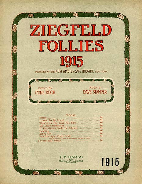 Ziegfeld Sheet Music - Ziegfeld Follies Of 1915 (Arabia My Land Of Sweet Romance)