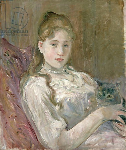 Young Girl with Cat, 1892