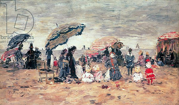 Parasols on the Beach, Trouville, 1886