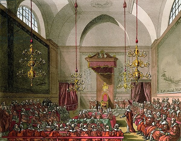 House of Lords from Ackermann's 'Microcosm of London'